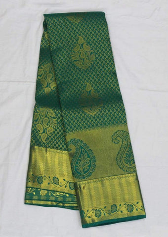 Peacock Green Wedding Silk Saree- FA8308 ARRS Silks