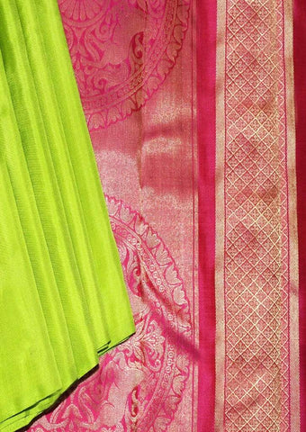 Peacock Green with Pink Mayuri Soft Silk Saree - FL87104 ARRS Silks