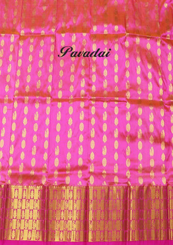 Pink Color Pure silk Unstitched pattu pavadai - FP28604( Age-3 year to 6 years) ARRS Silks