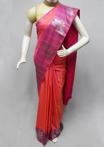 Pink color Semi Silk Saree- FR33558 ARRS Silks