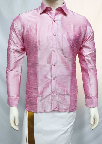 Pink Full Hand Silk Cotton Shirt - FS42565 ARRS Silks
