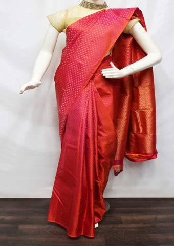 Pink Kanchipuram Silk Saree - FQ111646 ARRS Silks