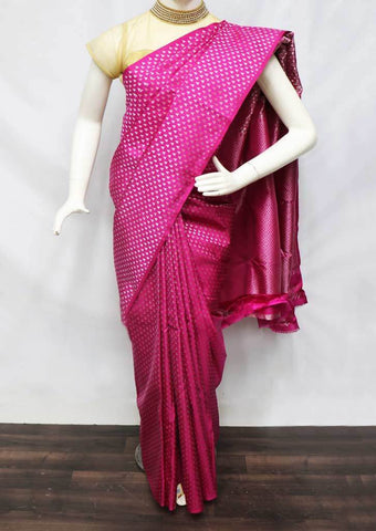 "Pink Kanchipuram Silk Saree -FQ31433"" ARRS Silks Salem"