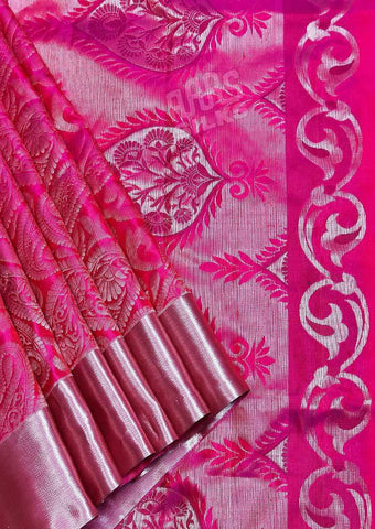 Pink Kanchipuram Silk Saree-FQ39045 ARRS Silks