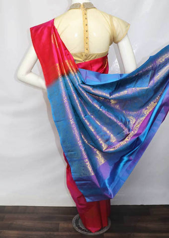 Pink  Kanchipuram Silk Saree -FU1457 ARRS Silks