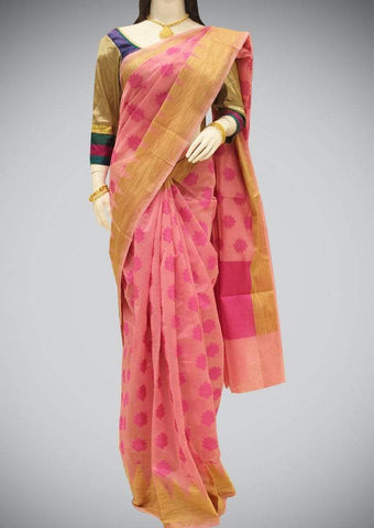 Pink Manipuri Cotton Saree ARRS Silks