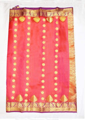 Pink & Orange shade with violet Kanchipuram Silk Saree- FK28053 ARRS Silks