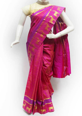 Pink Semi Silk Saree- FH2312 ARRS Silks