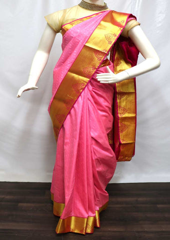 Pink semi silk saree  - FQ96803 ARRS Silks
