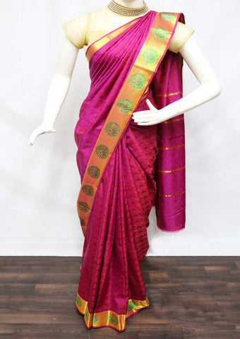 Pink semi silk saree  - FZ23951 ARRS Silks