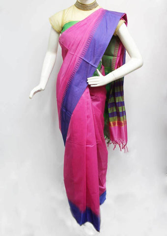 Pink Silk Cotton Saree - FQ92556 ARRS Silks