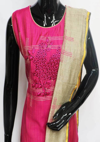Pink Straight Cut  Readymade Salwar-FL78730 ARRS Silks