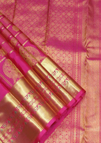 Pink Wedding Silk Saree - EU4105 ARRS Silks