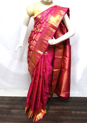 Pink Wedding Silk Saree - FV6943 ARRS Silks