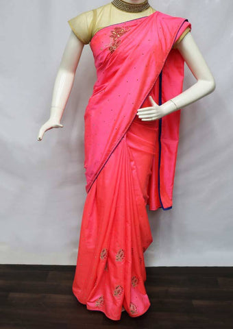Pink with Blue Color Designer Saree - FF20500 ARRS Silks