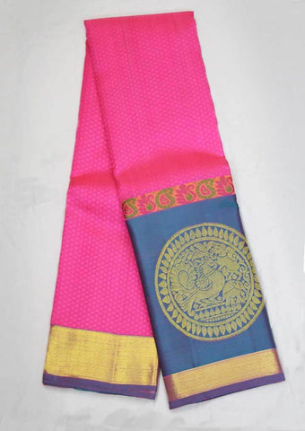 Pink With Blue Kanchipuram Silk Saree-FF16716 ARRS Silks