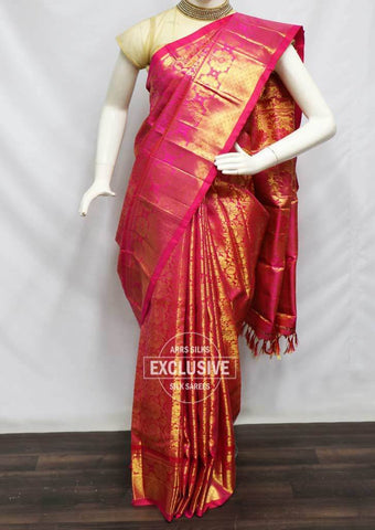 Pink With Golden Shade Wedding Silk Saree - EH25981 ARRS Silks