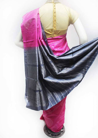 Pink with Gray Soft Silk Saree - FQ38960 ARRS Silks