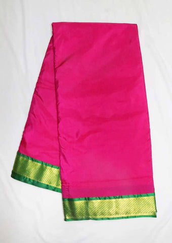 Pink with Green 9.5 Yards Silk Saree - FT20312 ARRS Silks