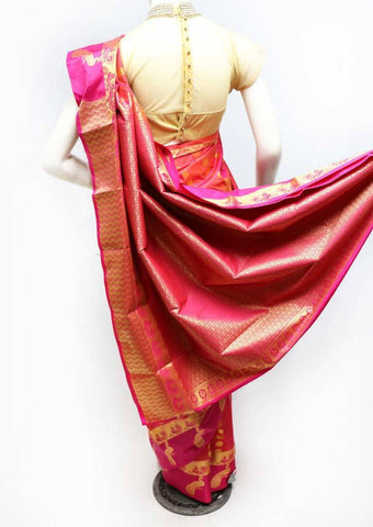 Pink with Mustard Shade Semi Silk Saree- FS43684 ARRS Silks