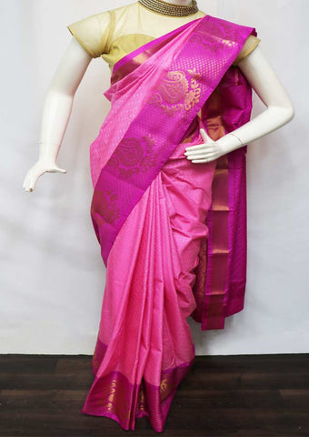 Pink With Pink semi silk saree  - FZ44021 ARRS Silks