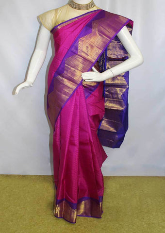 Pink With Violet  Kanchipuram Silk Saree-FM76670 ARRS Silks