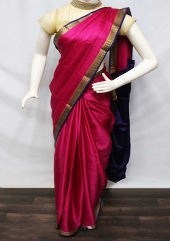 Pink With Violet Mysore Silk Saree - GD28879 ARRS Silks