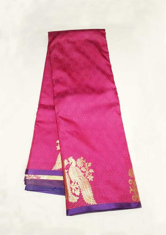 Pink With Violet Semi Silk Saree - FM67830 ARRS Silks