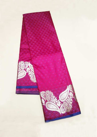 Pink With Violet Semi Silk Saree - FW1447 ARRS Silks