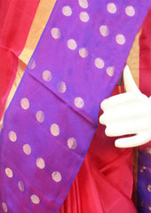 Pink With Violet Soft Silk Saree -EZ17987 ARRS Silks