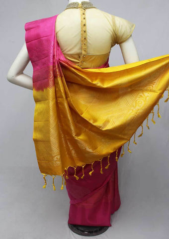 Pink with Yellow Soft Silk Saree -FQ110842 ARRS Silks