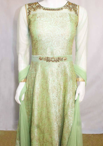 Pista Green Readymade Salwar-EY5968 ARRS Silks