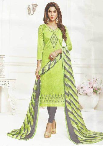 Pista Green Unstitched Chudi - FR74191 ARRS Silks