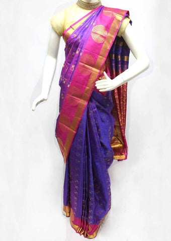 Purple Color Kanchipuram Silk Saree - FQ111616 ARRS Silks