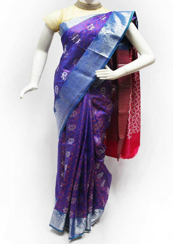 Purple Color with Pink Semi Silk Saree- FL68730 ARRS Silks