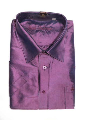Purple Pure Silk Shirt ( 44 Size) - SC691 ARRS Silks