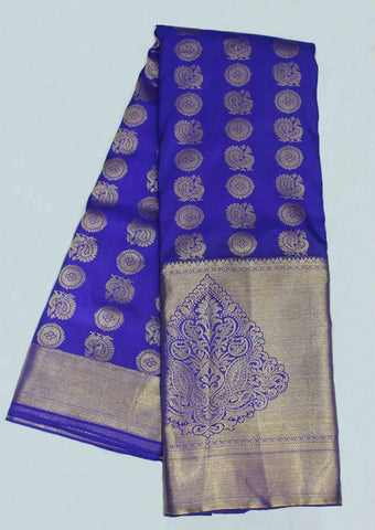 Purple with Golden Zari Wedding Silk Saree - FF31711 ARRS Silks