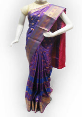 Purple with Pink Semi Silk Saree- FK18338 ARRS Silks