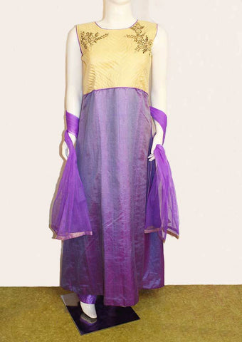 Purple with Sandal Readymade Salwar - FB4259 ARRS Silks