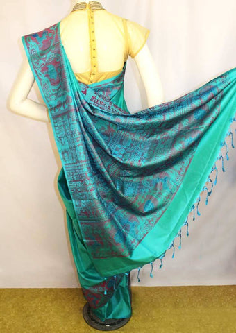 Ramar Blue Soft Silk Saree -FL85873 ARRS Silks