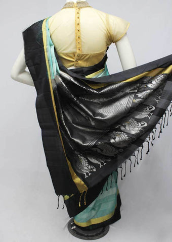 Ramar Blue with Black Soft Silk Saree -FP56270 ARRS Silks