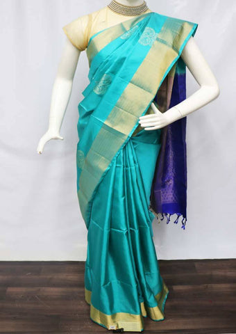 Ramar Blue with Blue Soft Silk Saree - FU45309 ARRS Silks