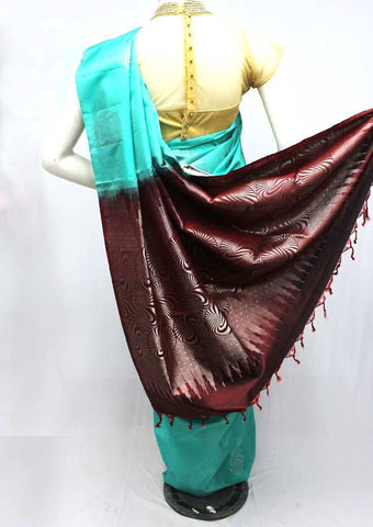 Ramar Blue with Brown Soft Silk Saree -FQ111139 ARRS Silks