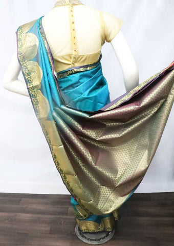 Ramar Blue with Violet Shade Semi Silk Saree - FT5161 ARRS Silks