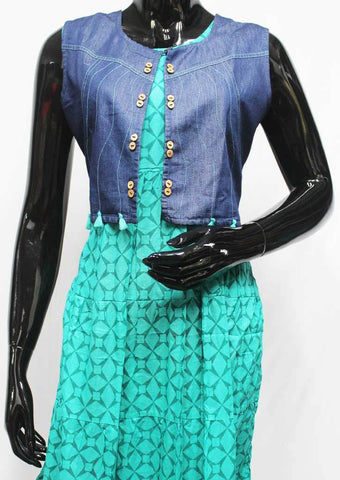Ramar Green Color Cotton Kurti - FR119249 ARRS Silks
