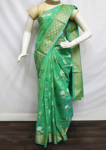 Ramar Green Manipuri Cotton Sarees- FW7345 ARRS Silks