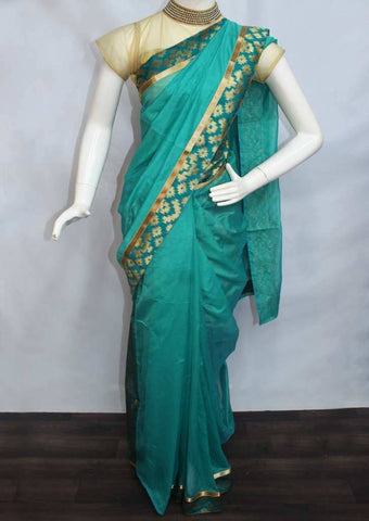 Ramar Green Varanasi Cotton Saree - FP2761 ARRS Silks
