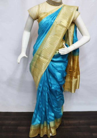 Ramar with Sandal Pure Raw Silk Saree - EH9504 ARRS Silks