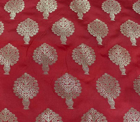 Red Blouse Fabric EW14811 ARRS Silks
