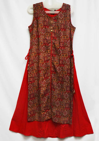 Red Color Kurti - GH59253 ARRS Silks